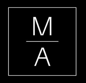 Logo di Marciano Architetti su sfondo Nero